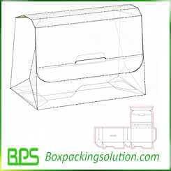 cardboard suitcase packaging design template
