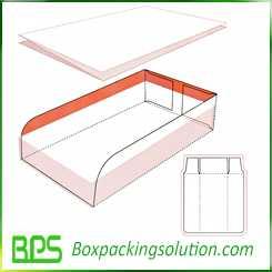 cardboard tray design template
