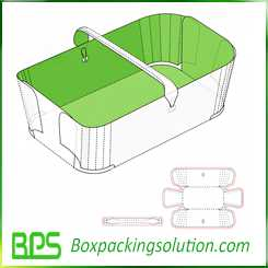 cardboard tray with handle design template