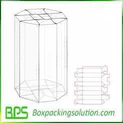 cardboard tube packaging design template