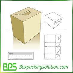 cardboard vote box voting box die line template