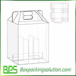 carrying carton with dividers design template