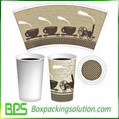 coffee cup packaging design template design