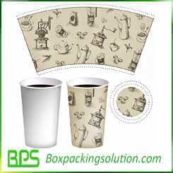 coffee mug packaging design template