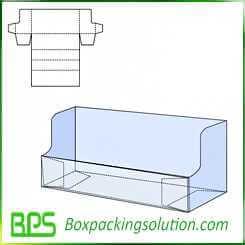 corrugated display box design template