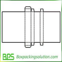 corrugated folding carton template