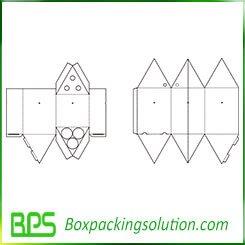 corrugated umbrella box template
