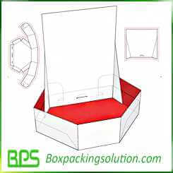 cosmetic bottle display cardboard box design template