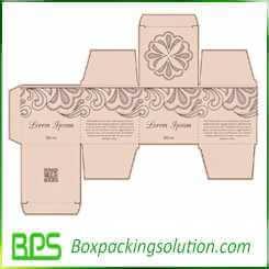 cosmetic packaging boxes die line