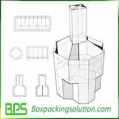 costco display box design template