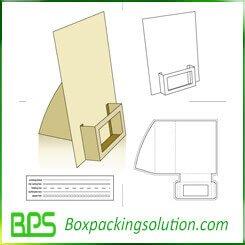 counter display board die line template design