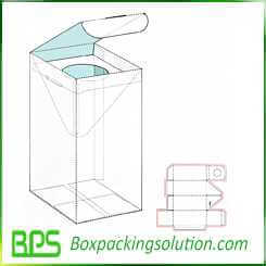 custom bottle packaging box with divider packaging design template