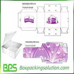 custom cake packaging box design template