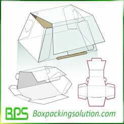 custom cake packaging boxes design templates