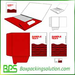 custom cardboard folder printed folders