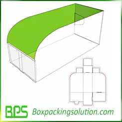 custom cardboard tray design template