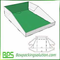 custom corrugated display box templates