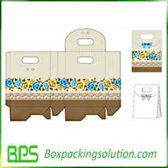 custom gable top gift box carry packaging box gift box with handle