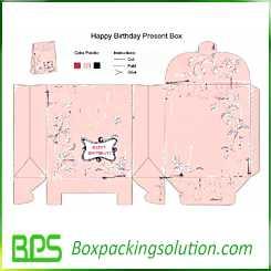 custom happy birthday present box design template