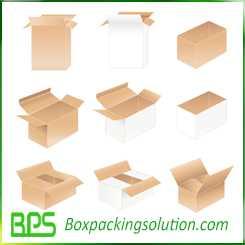 custom shipping box design die line