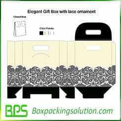 customized take away gift box design