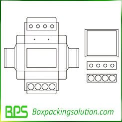 decorative packaging box insert template