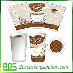 design template for the cup of coffee