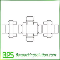 device packaging paperbox template