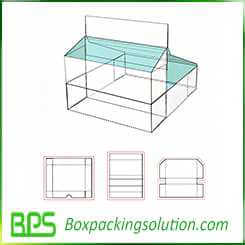 display stand packaging box design template