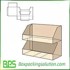 double layer display stand box