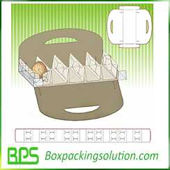 egg packaging with dividers design