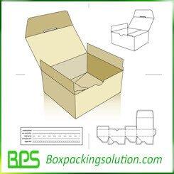 fast setup cardboard box template
