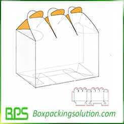 flower packaging box design template