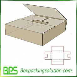 foldable take way packaging box design template