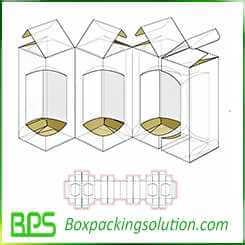 four in one packaging boxes design template