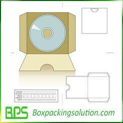free CD packaging folder box die line template