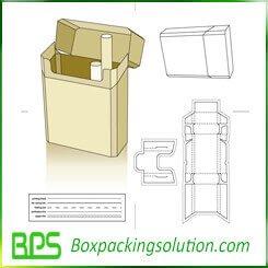 free cigarette packaging box die line template