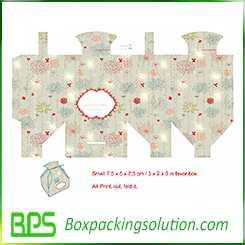 gable top gift box design