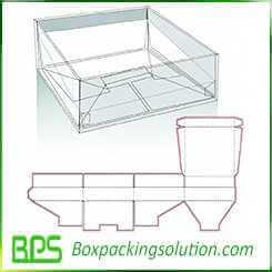 gable top snap bottom box design templates