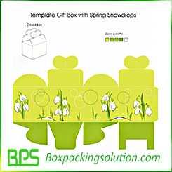 gift box design template