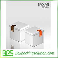 gift box with sticker closure 3D view
