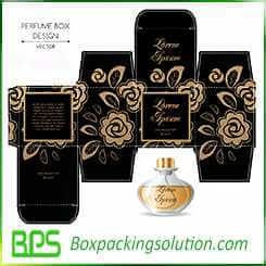 golden perfume bottle packaging paper boxes