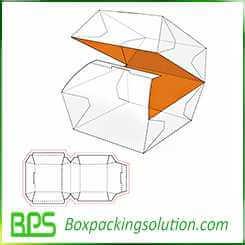 hamburg packaging box template design