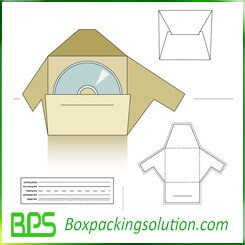 hard cover CD packaging box templates