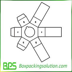 hexagon packaging box template
