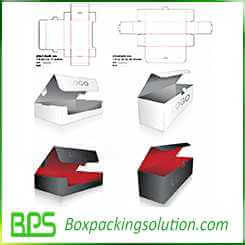 high quality offset printed cardboard design template