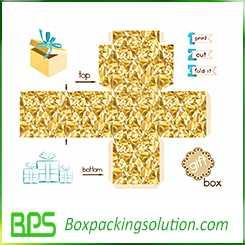 hinged lid box template design