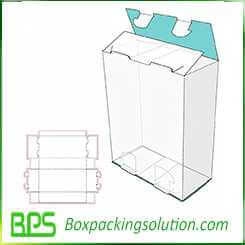 lock top and bottom box design template