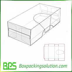 mailer box with easy open cutting line design template