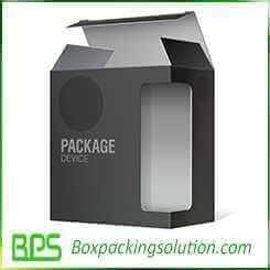 matt black corrugated box design